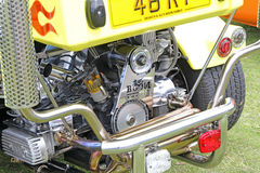 Trike chopper chrome engine Stock Image