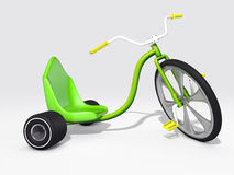 Trike. 3D rendered green trike  on white background Stock Images