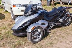 Trike of het voertuig met drie wielen Spyder worden gemaakt door Bombardier Recreatio Royalty-vrije Stock Afbeelding