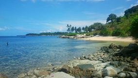 Trikora bintan do pulau do ujung de Keindahan Imagens de Stock Royalty Free