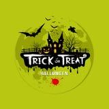 Trikowy lub funda Halloween projekt Obraz Stock