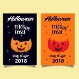 Trikowy lub funda karciany Halloween dwa kolor fotografia royalty free