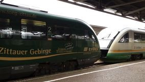 Trilex Länderbahn en Bischofswerda Imagen de archivo libre de regalías