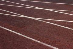 Trilha atlética no estádio. Imagem de Stock