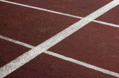 Trilha atlética no estádio. Fotos de Stock Royalty Free