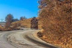 Trilha carregada na estrada Imagem de Stock Royalty Free