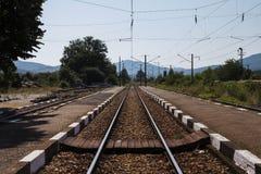 Trilha da estação de trem velha Fotografia de Stock Royalty Free