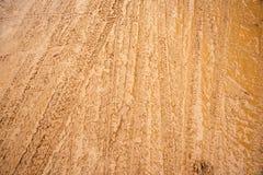 Trilha da roda na estrada da lama Imagens de Stock Royalty Free