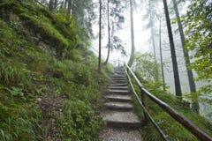 Trilha de caminhada alpina Fotos de Stock