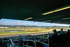 Trilha de corrida de cavalos Emerald Downs Foto de Stock Royalty Free