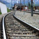 Trilha de estrada de ferro Fotografia de Stock