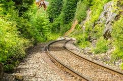 Trilha de estrada de ferro do enrolamento imagem de stock royalty free