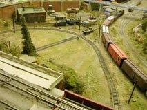 Trilha de estrada de ferro modelo Imagem de Stock Royalty Free