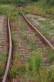 Trilha de estrada de ferro velha fotografia de stock royalty free