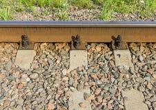 Trilha de estrada de ferro velha Imagens de Stock
