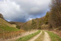 Trilha de exploração agrícola do país Fotografia de Stock Royalty Free