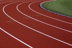 Trilha do atletismo Fotos de Stock Royalty Free