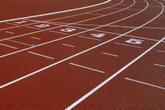 Trilha do atletismo Imagens de Stock