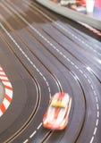 Trilha do carro de corridas do brinquedo Imagem de Stock Royalty Free