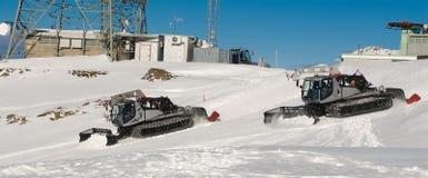 Trilha do esqui Fotos de Stock Royalty Free