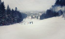 Trilha do esqui Fotos de Stock