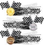 Trilha do pneu com medalhas Imagem de Stock