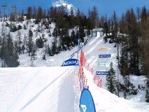 Trilha do Snowboard Imagens de Stock