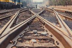 A trilha do trem Fotografia de Stock