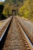Trilha do trem com ponte Fotos de Stock