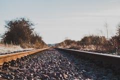 Trilha do trem da cor fotografia de stock
