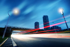 Trilha do viaduto e da luz Imagem de Stock Royalty Free