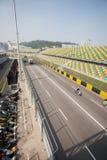 Trilha e assentos espectadores para o Macau Prix grande. imagens de stock royalty free