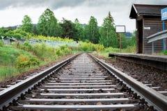 Trilha em Sumava, República Checa Fotografia de Stock