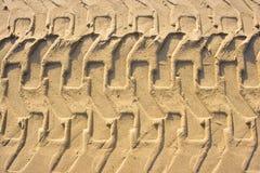 Trilha na areia Fotografia de Stock Royalty Free