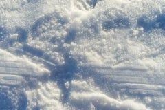 A trilha na neve congelada Imagens de Stock Royalty Free