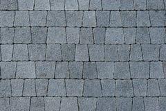 Trilha pavimentada do tijolo trapezoidalmente cinzento Imagens de Stock Royalty Free