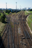 Trilha Railway à porta foto de stock royalty free