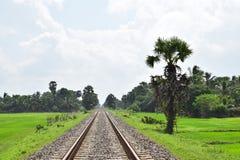 Trilha Railway imagem de stock royalty free