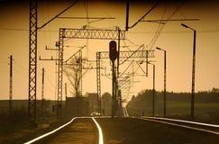 Trilha Railway Foto de Stock