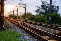 Trilha Railway Fotos de Stock Royalty Free