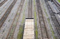 A trilha Railway Imagens de Stock