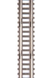 Trilha railway do brinquedo isolada no fundo branco Fotografia de Stock Royalty Free