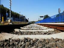 Trilha Railway e plataforma Foto de Stock