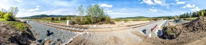 Trilha railway funcional nova scenary foto de stock