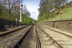Trilha Railway no North Yorkshire, Inglaterra imagens de stock