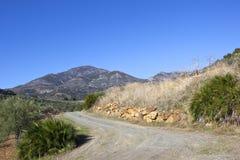 Trilha rochoso da montanha na Andaluzia Foto de Stock Royalty Free