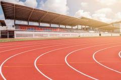 Trilha Running no estádio Fotos de Stock