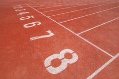 Trilha Running no estádio Imagens de Stock Royalty Free