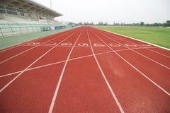 Trilha Running no estádio fotografia de stock
