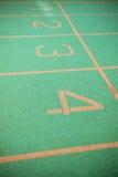 Trilha running verde Imagem de Stock